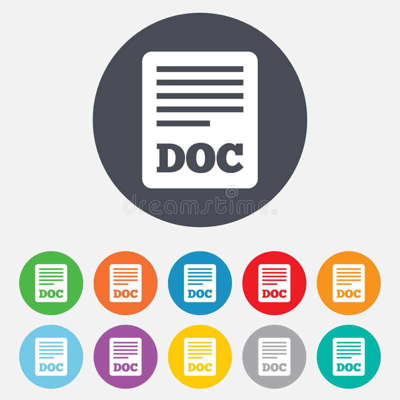 Free File Document Icon. Download Doc Button. Royalty Free Stock Photos - 36728858