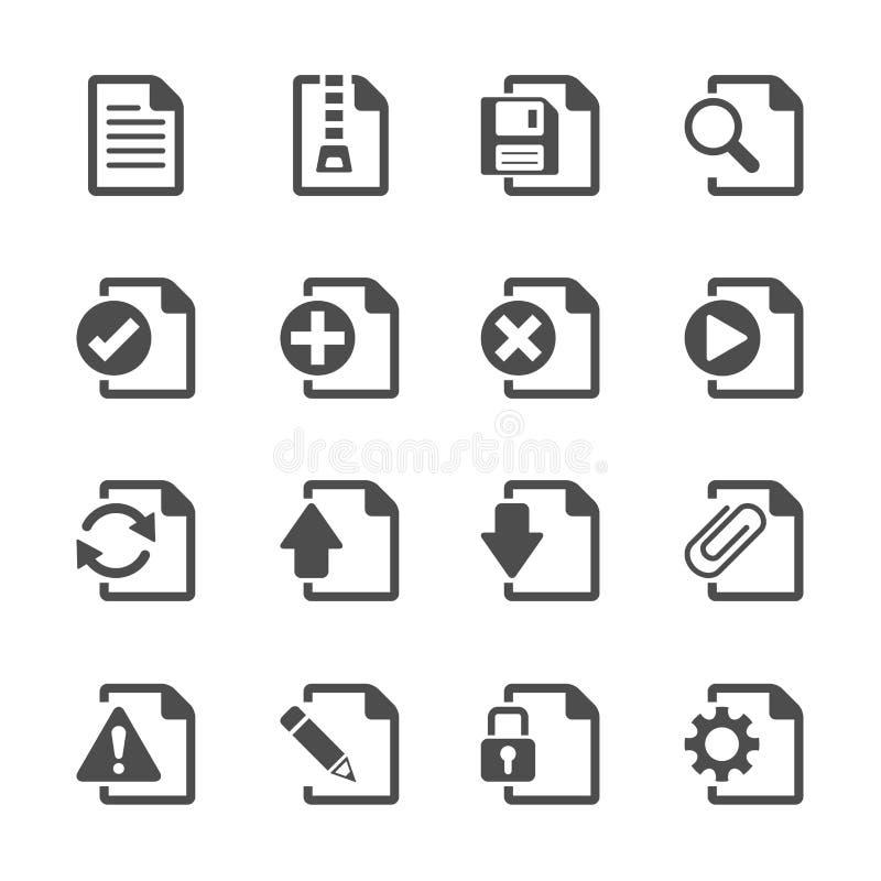 File document icon set, eps10 royalty free illustration