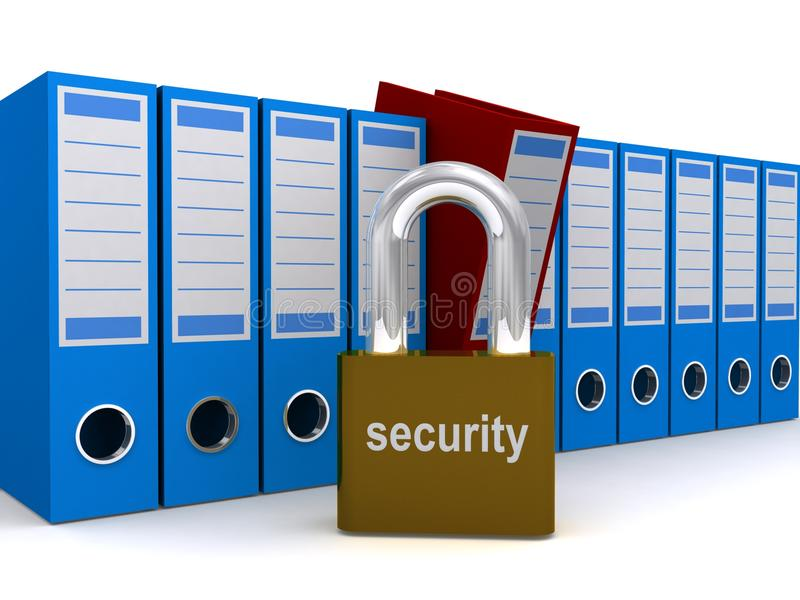 Download File or document security stock illustration. Image of safeguard - 17228471
