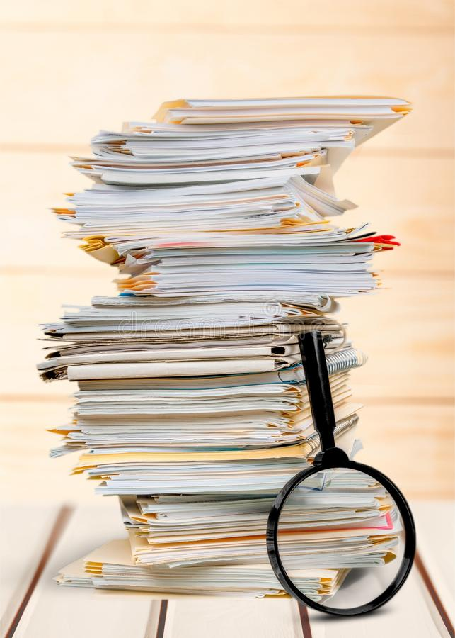 File Documents royalty free stock image