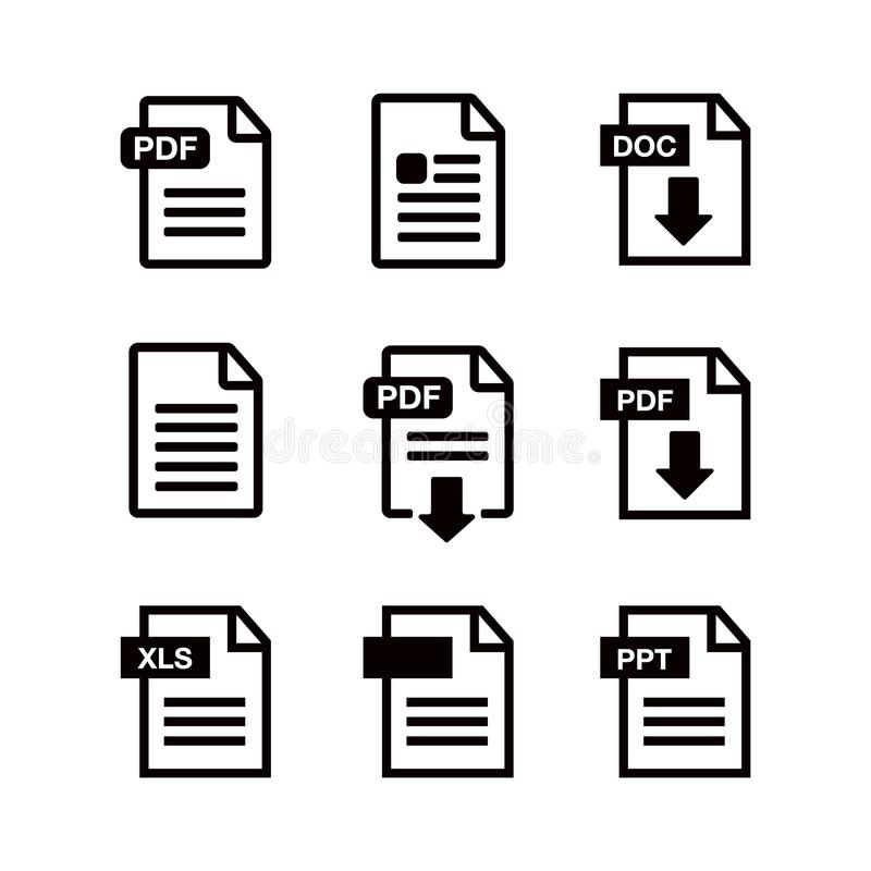 File Download Icon Document Text Symbol Web Format Information