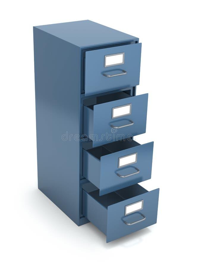 File drawer. Over white background (3D illustration vector illustration