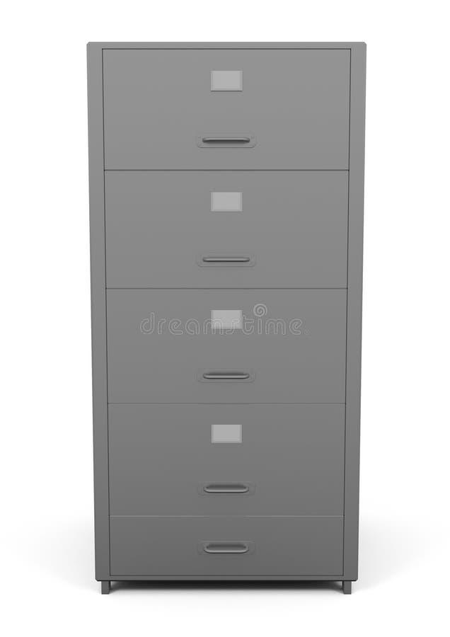 File Drawer isolated on white. 3d illustration stock illustration