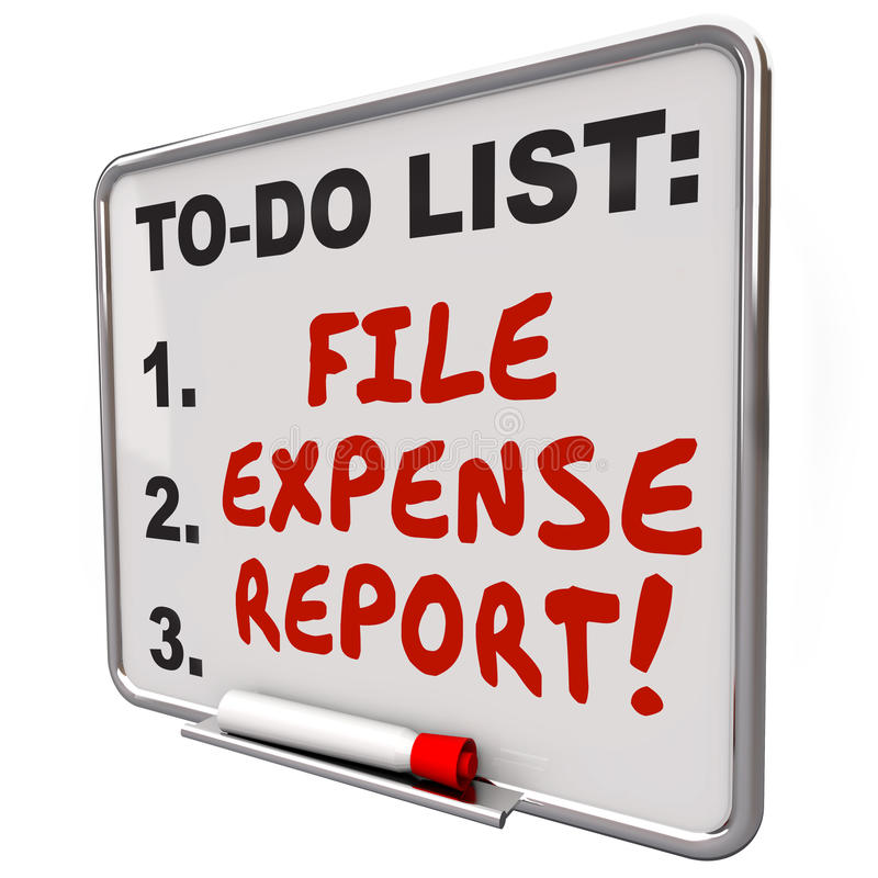 how to do expense reports