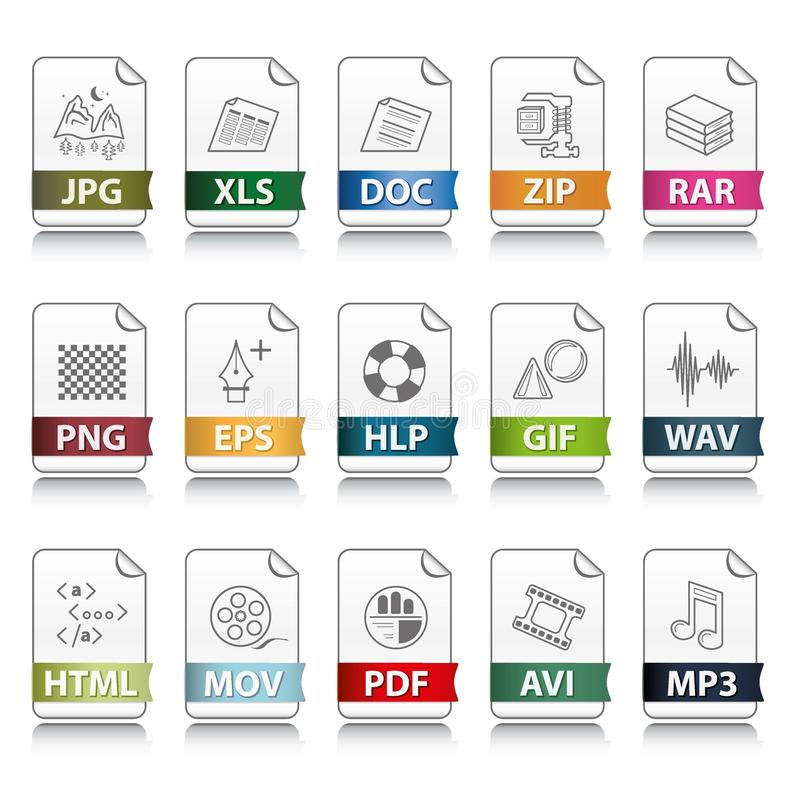 File extension icons vector illustration