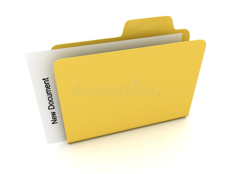 File Folder With Document Royalty Free Stock Images