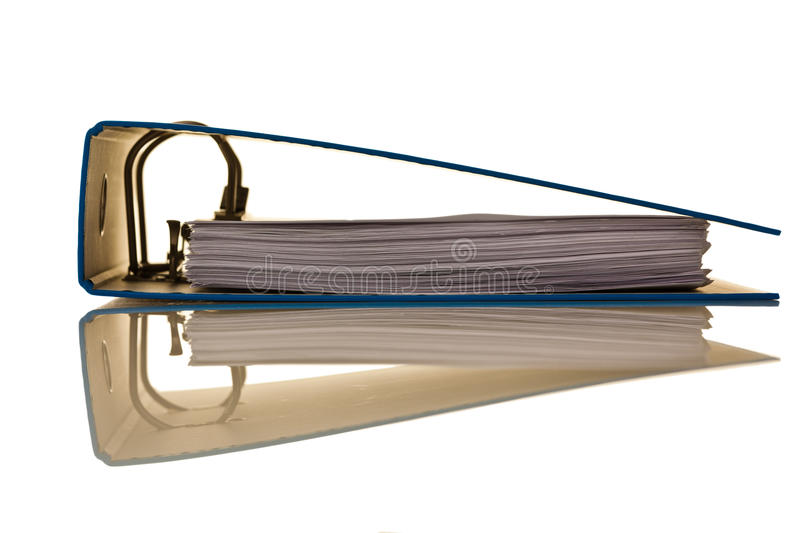 File folder with documents and documents. File folders with documents and papers. Retention of contracts royalty free stock photography