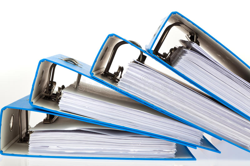 Download File Folder With Documents And Documents Stock Photo - Image: 18725732