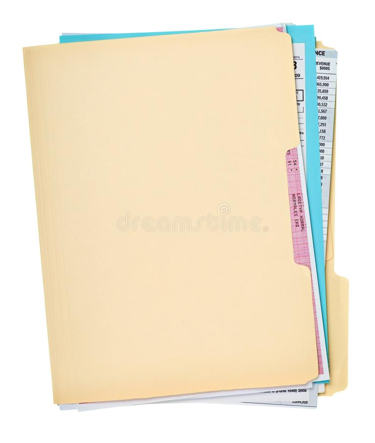 File Folder with Documents royalty free stock images