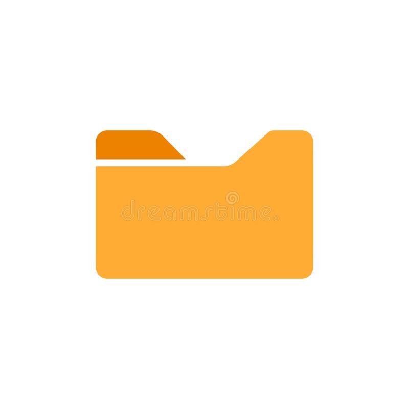 File folder icon in flat style. Documents archive vector illustration on white isolated background. Storage business concept.  vector illustration