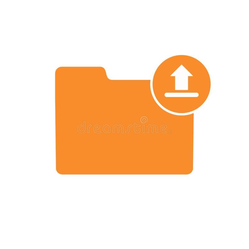File folder internet sharing up upload uploading icon stock illustration
