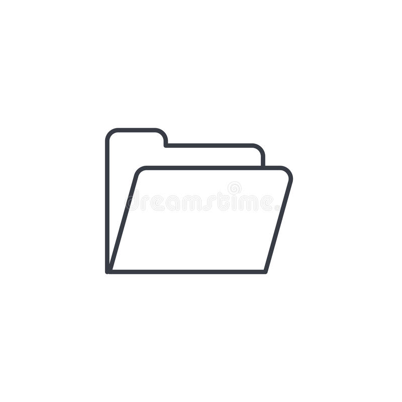 File folder thin line icon. Linear vector symbol vector illustration