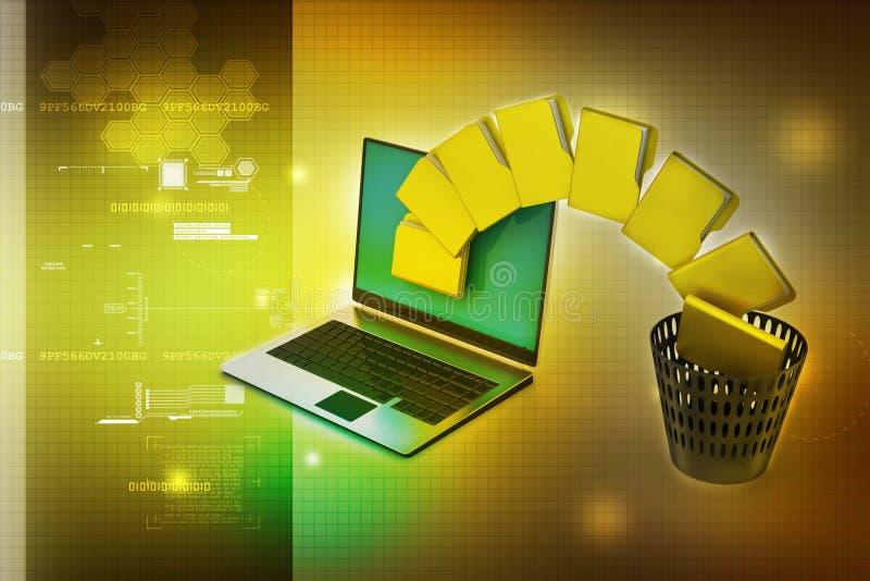 File folder transfer royalty free illustration