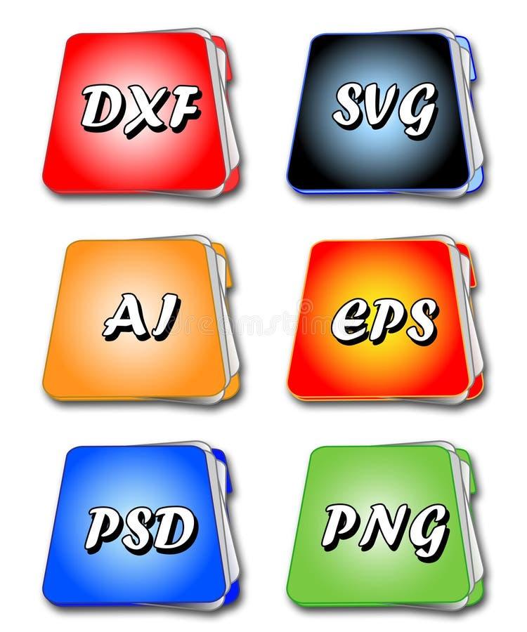 Download File folders stock vector. Illustration of internet, software - 16328887
