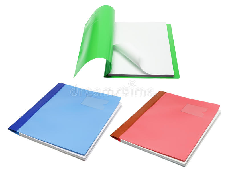 File Folders. On White Background stock images