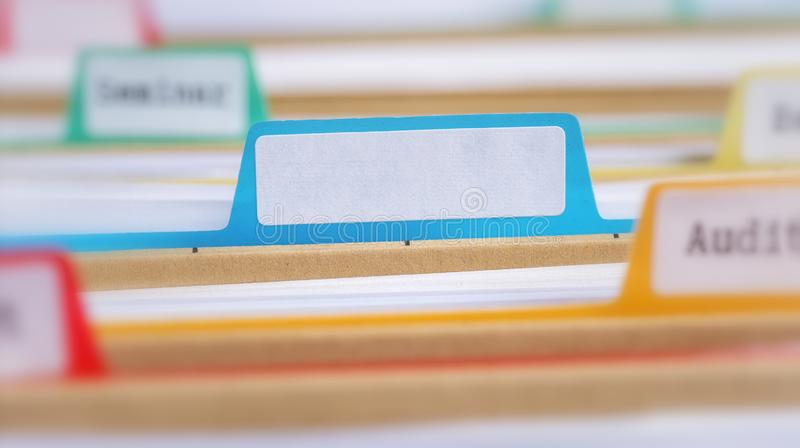 File folders with an empty tab royalty free stock images