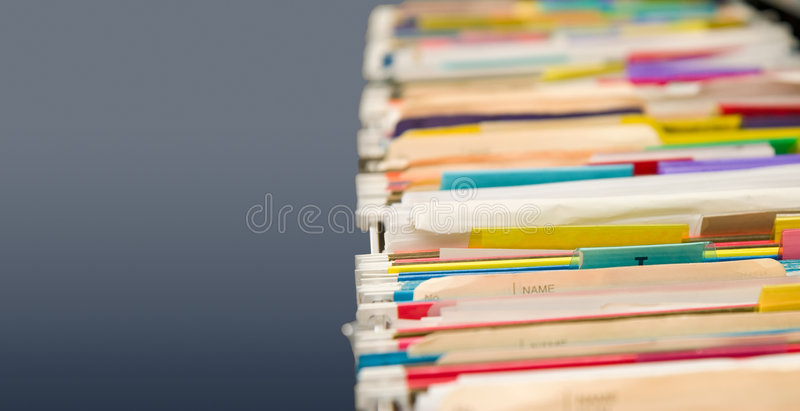 File folders full of data stock image