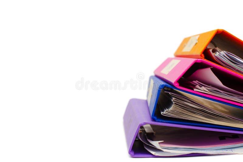 File folders. Isolated on white stock image