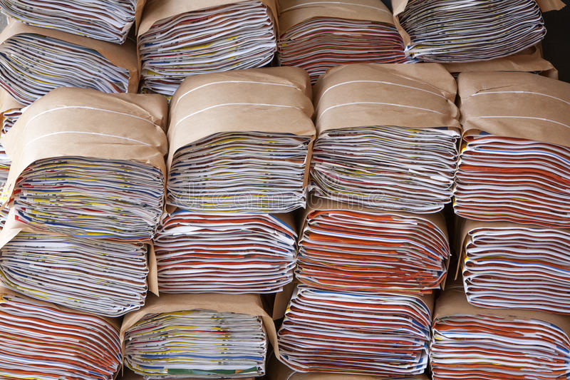 File folders. Or a lot of paperwork stock photography