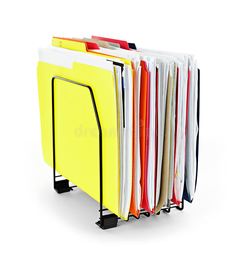 File folders with papers royalty free stock photo