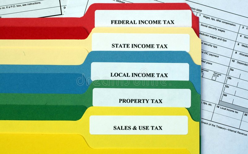 File Folders of Taxes royalty free stock image