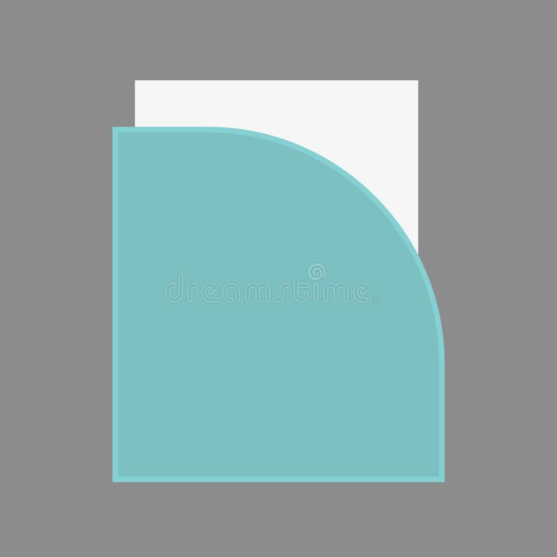 File holder binder design vector flat icon. Archive sheet stationary data paperwork.  royalty free illustration