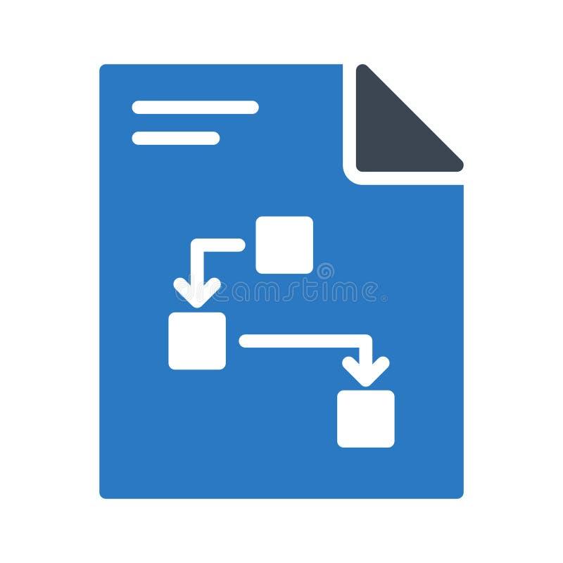 File glyph colour line vector icon stock illustration