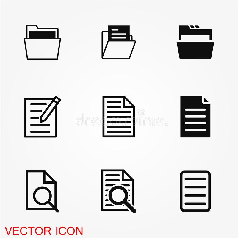 File icon vector royalty free illustration