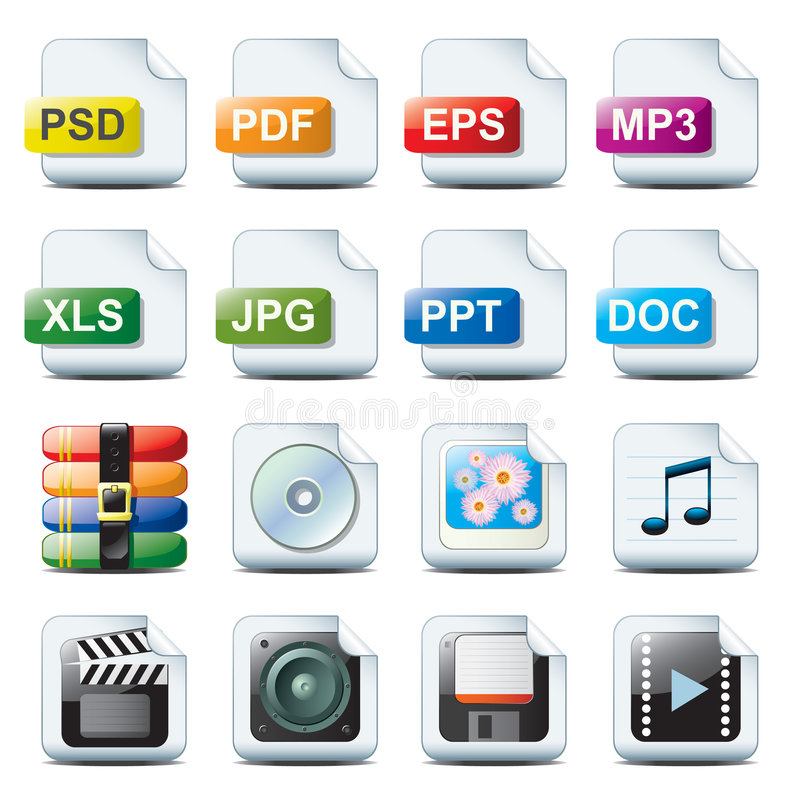 File icons royalty free illustration