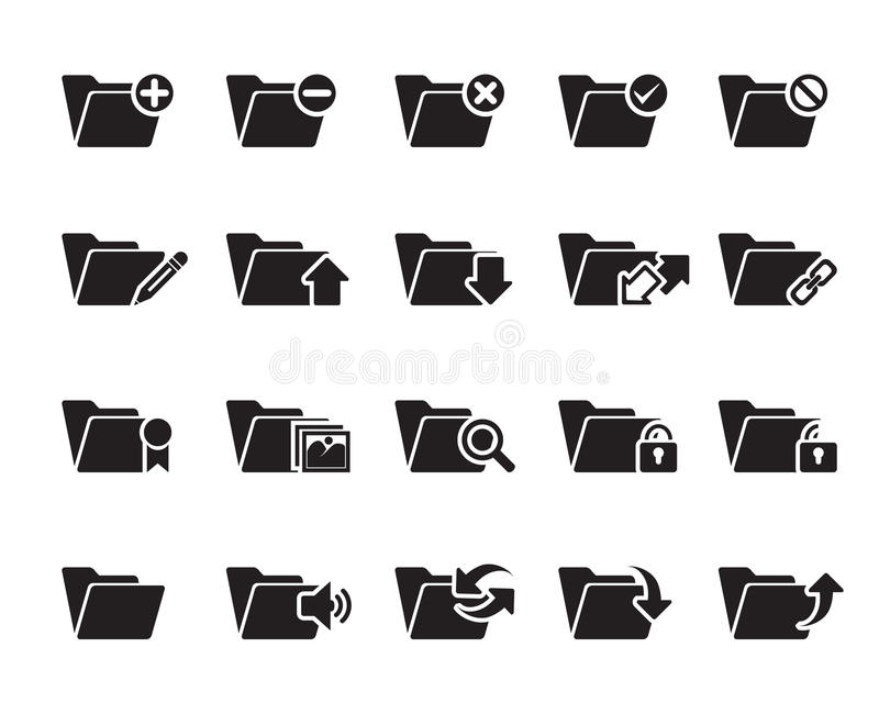 File n Folder Icons vector illustration