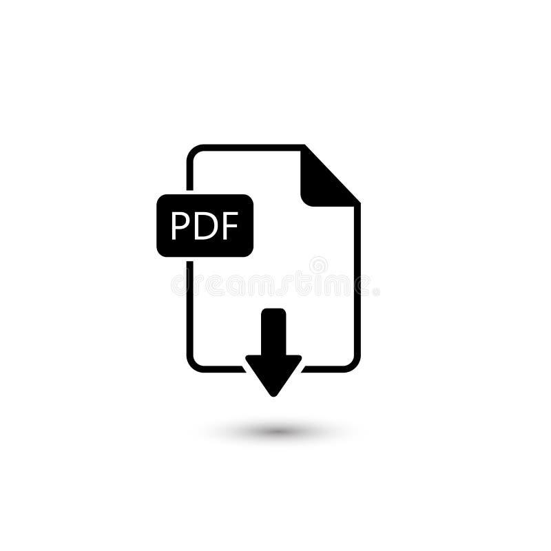 File PDF icon. Vector illustration royalty free illustration