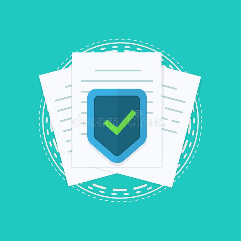 File protection. Data security and privacy concept. Safe confidential information. Flat design, vector illustration on vector illustration