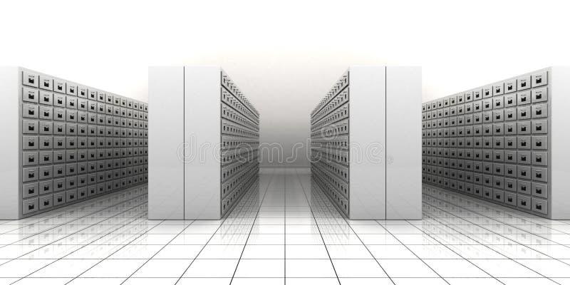 File room. 3d illustration of a file room