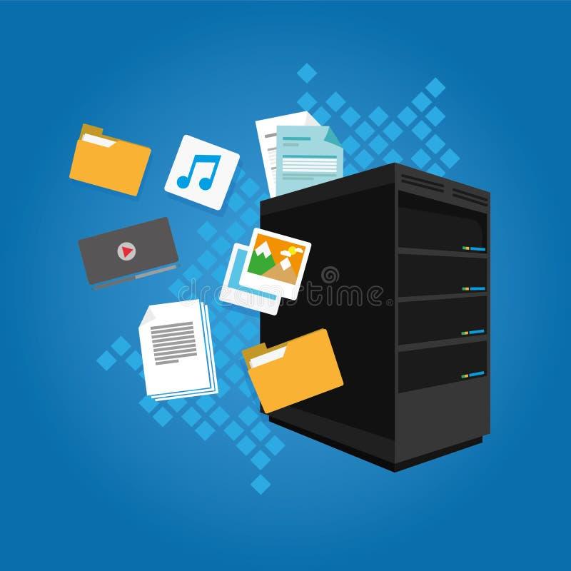 File server data document image video email folder. Vector illustration flat design royalty free illustration