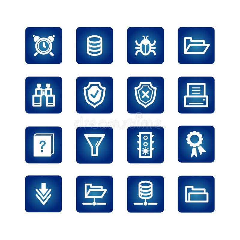 File server icons vector illustration