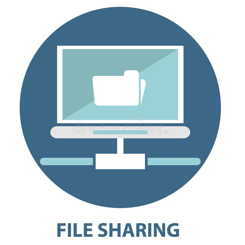 File sharing concept Folder with Documents Icon vector illustration
