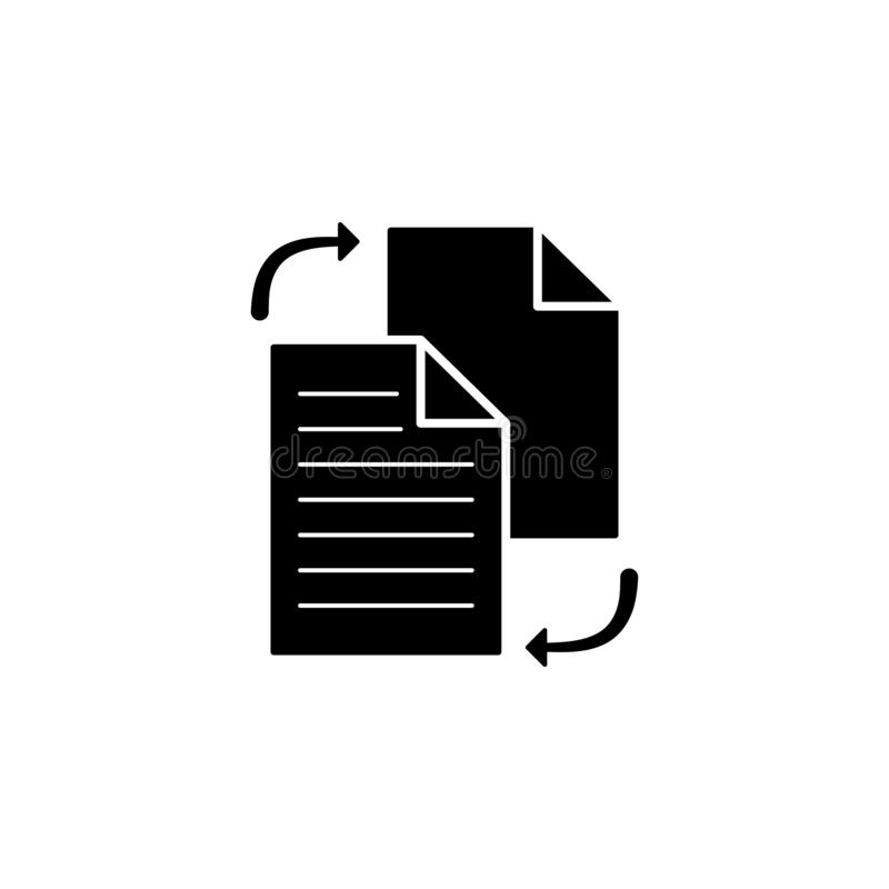 file sharing in style icon. Simple glyph, flat vector of Web icons for UI and UX, website or mobile application stock illustration