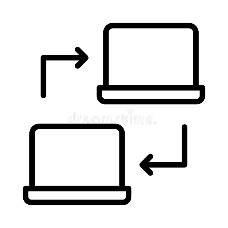 File sharing thin linet vector icon royalty free illustration