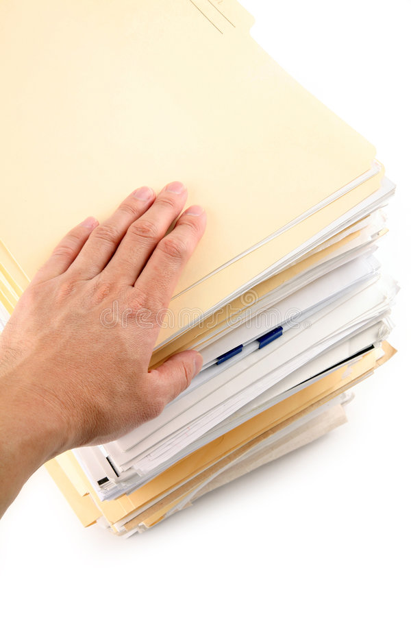 Download File Stack stock photo. Image of white, hand, background - 2317278