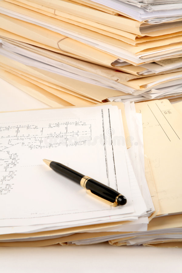 Download File Stack stock image. Image of business, paperwork, working - 2317299