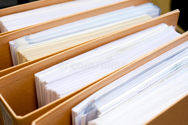 File Stack, file folder close up for background. royalty free stock photos