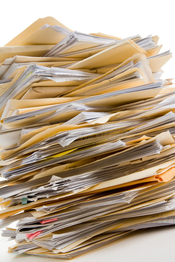 File Stack royalty free stock photo