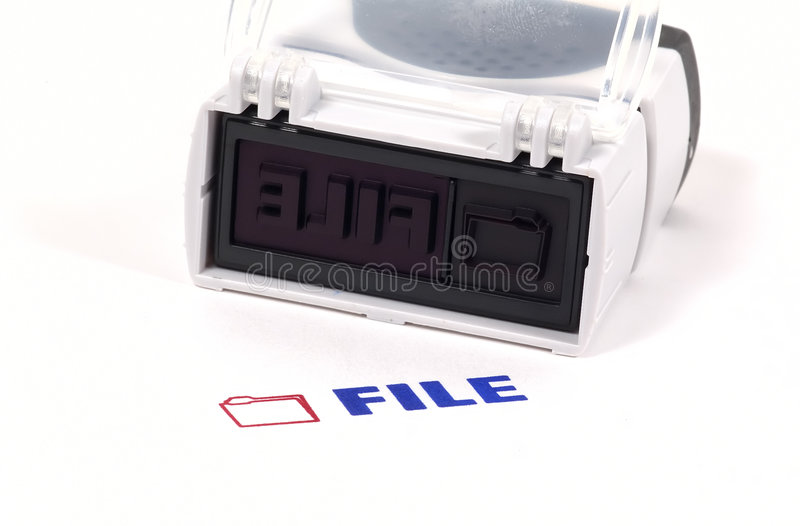 File Stamp stock images