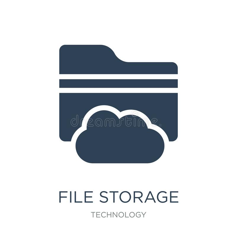 File storage icon in trendy design style. file storage icon isolated on white background. file storage vector icon simple and. Modern flat symbol for web site vector illustration