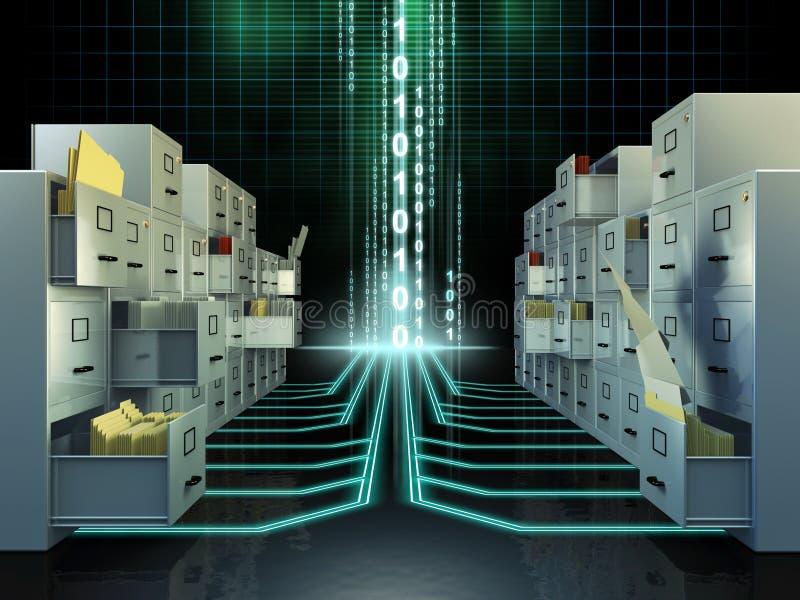 File system vector illustration