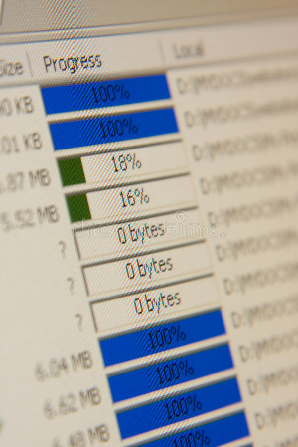 File transfer closeup royalty free stock image