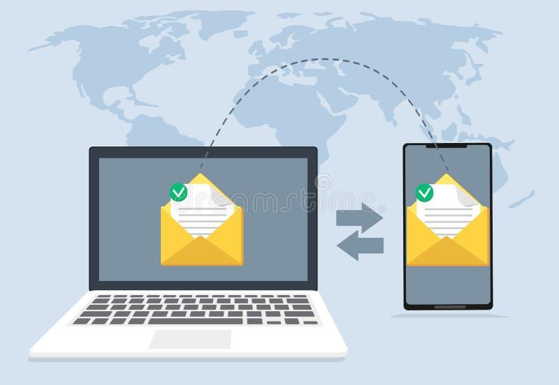 File transfer, file recovery, defragmentation stock illustration