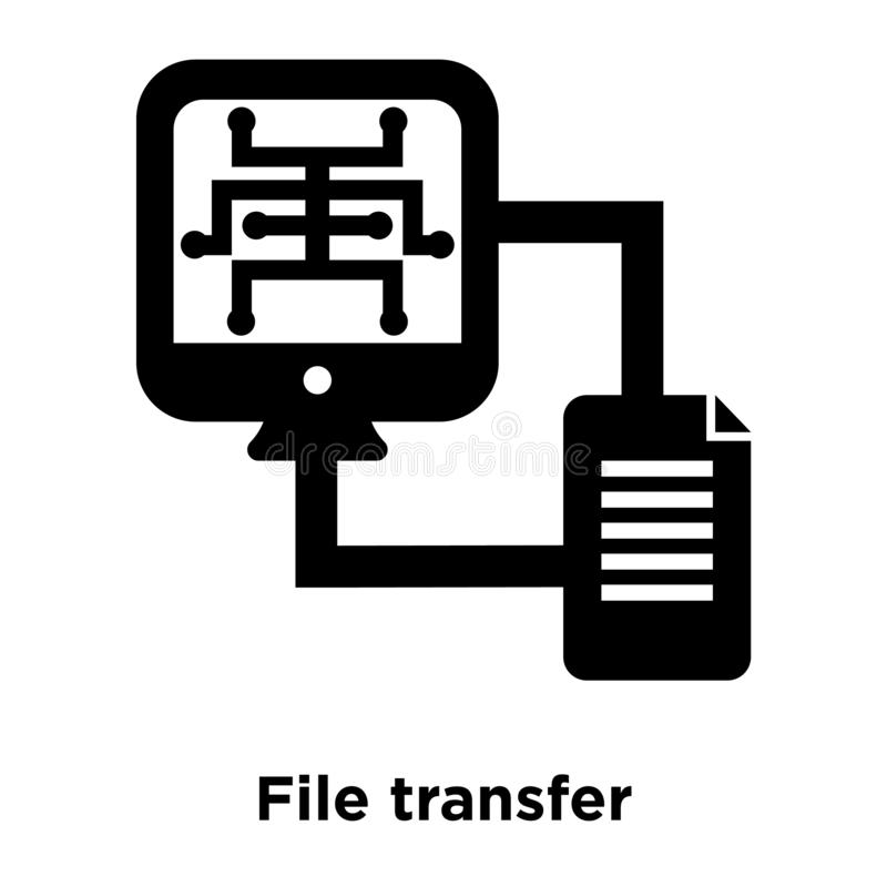 File transfer icon vector isolated on white background, logo con stock illustration