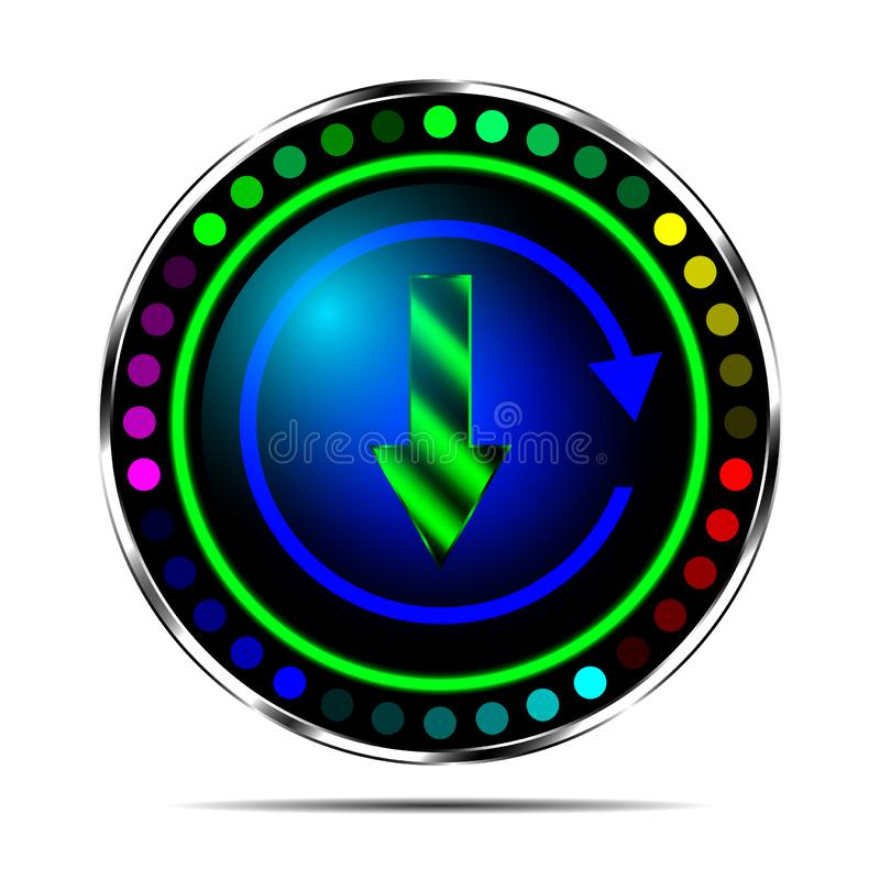 File upload icon for web sites and applications. Icon download buttons for mobile applications and web sites royalty free illustration