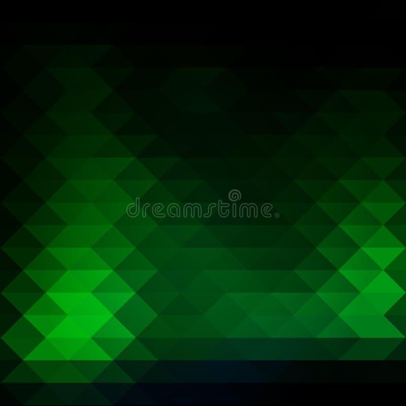 File verdi al neon d'ardore dei triangoli fondo, quadrato illustrazione di stock